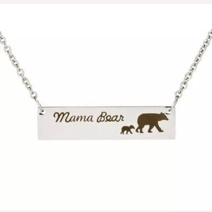 Mama Bear 1 Kid Necklace Mother's Day Gift Present